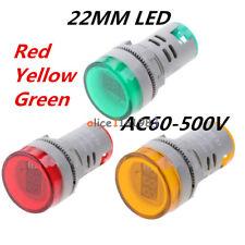 22mm Ac60 500v Led Voltmeter Voltage Meter Indicator Pilot Light New Diy