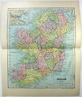 Ireland - Original 1903 Map by Dodd Mead & Company. Antique