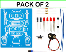 ( CLASSPACK OF 2 ) K-17 / K5117 LED ROBOT BLINKER DIY KIT solder version