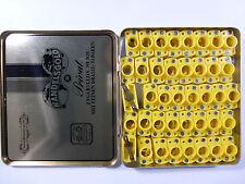 40 x gelbe Lampen-Fassung Sockel E10 max. 42V mit Schraubanschluss in Blechbox