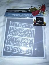 Letter board With 50 Letters gray
