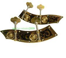 Brass upright double bass machine head pegs 3/4-4/4