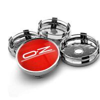 4x 60mm OZ Racing Nabendeckel Felgendeckel Nabenkappen Rot