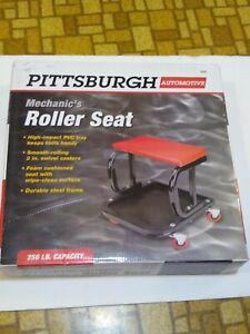 Mechanic's Roller Seat Tool Tray Storage Swivel Rolling Steel Auto Shop Garage