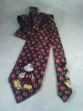 Mickey Unlimited Disney Mickey Mouse Novelty Polyester Tie Burgundy/Maroon Black