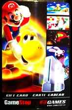 Super Mario EB Games collectible gift card No Value BILINGUAL