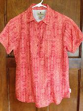 Woolrich xs Women's Hiking Short Sleeve Shirt Orange