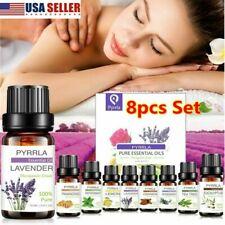 8x Essential Oil Set 100% Pure Natural Aroma Therapeutic Grade Oils 10ml Soft