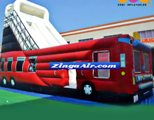 40x15x30 Commercial Inflatable Fire Truck Water Slide n Slip Bounce House Castle