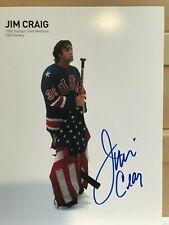 JIM CRAIG SIGNED AUTOGRAPHED 8x10 FLAG PHOTO OLYMPICS NHL HOCKEY MIRACLE 1980