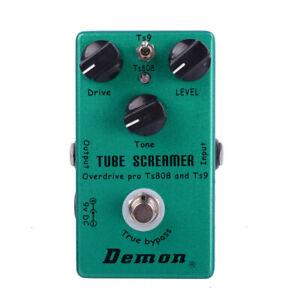 Demon FX TS808 Tube Screamer Overdrive Pro Vintage Electric Guitar Effect Pedal
