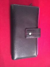 Black and Pink Leather Wallet Clutch Tong Guang Used
