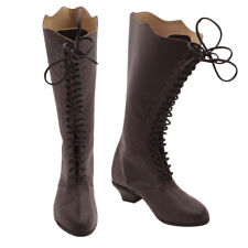 Women's Victorian Shoes Civil War Leather Ankle high Boots