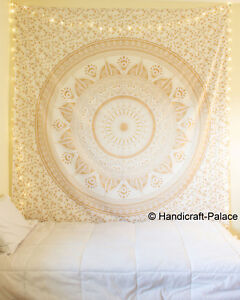 Ombre Mandala Tapestry Indian Wall Hanging Bohemian Hippie Bedspread Throw-Decor