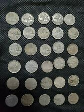 Guatemala silver 5 Centavos. Lot of  30 coins   mix years 1945 to 1961