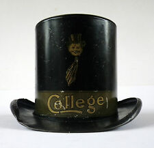 W M Livens Figural Novelty Top Hat Money Box College Toffee Tin Money Bank 7943