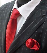 Tie Neck tie with Handkerchief Red