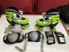 Roller skates for kids, Avigo, green/black, medium, fair condition