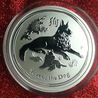 Lunar 2 II Hund 2018 Silber Münze Silbermünze Hunde Dog Perth Mint 1/2 Unze oz
