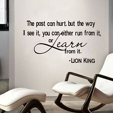 Learn From The Past Lion King Wise Quotes Removable Vinyl Art Decal Wall Sticker