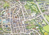 Cityscapes Street Map Of Bury St Edmunds 400 Piece Jigsaw Puzzle 47cm x 32cm