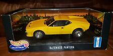 DeTOMASO PANTERA Yellow HOT WHEELS Car 1:18 NEW Box RARE Mint Collectible NIB