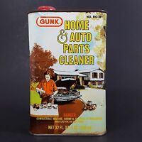 Vintage Gunk Tin Can Home And Auto Parts Cleaner One Quart Midcentury Graphics