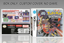 NINTENDO DS : POKEMON PLATINUM VERSION. ENGLISH. COVER + ORIGINAL BOX. (NO GAME)