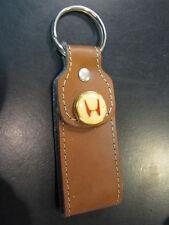 Key ring / sleutelhanger Honda (leather big) brown