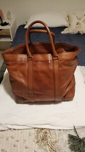 Used Coach Bleecker Legacy Leather Weekend Bag XL Used