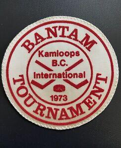 BANTAM TOURNAMENT Kamloops B.C. Intl 1973 Hockey Vintage Original Cloth Patch