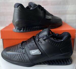 Nike Romaleos 3 XD Triple Black Weightlifting AO7987-001 Size UK 11.5 EU 47 New