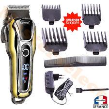 Tondeuse à cheveux pour barbe sans fil rechargeable avec pro lames inox ecran