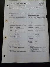 ORIGINALI service manual BLAUPUNKT AUTORADIO Bonn