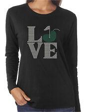 Love Golf Rhinestone Women's Long Sleeve Shirts Golfing