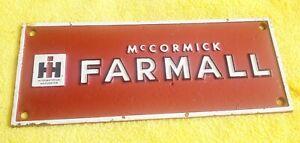 "Nice ""McCormick Farmall"" IH International Harvester Cast Plaque~Very Good Cond."