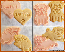 Pug Dog Cookie Cutter Set Cute Biscuit Baking Supplies Tool Ceramics Pottery