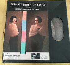 Vintage Bernat Mohair Brush-Up Stole Taupe. New In The Box