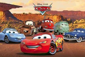 Cars - Disney / Pixar Movie Poster (Characters: Lightning Mcqueen & Sally...)