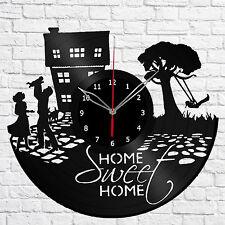"Sweet Home Vinyl Record Wall Clock Art Home Decor 12""30cm A499"