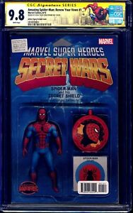 Renew Vows #1 CGC SS 9.8 SPIDER-MAN ACTION FIGURE VARIANT CGC SS 9.8 signed JTC