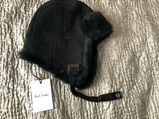 Authentic  PAUL SMITH  Black Sheepskin Trapper HUNTER CHAPKA  HAT SIZE S  £250