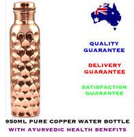 950ml Craft Diamond Pure Copper Water Bottle with Ayurvedic Health Benefits