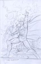 Thor final cover sketch - Greg Hildebrandt Original Comic Art Hand signed New!