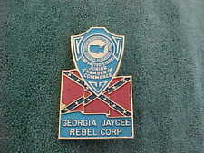 Junior Chamber of Commerce Georgia Jaycee Brass Automobile License Plate Topper