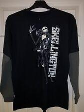 Disney Parks Jack Skellington Long Sleeve T-Shirt Top Black NEW YOUTH XL
