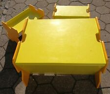 Sitzgruppe für Kinder Tisch und 2 Stühle bzw. Bänke Kindertisch Kindersitzgruppe
