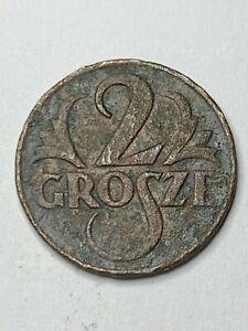 1925 Poland 2 GROSZE1 zloty coin good condition!!NO RESERVE!! !!!! !!(R5C5)
