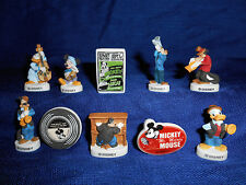 MICKEY MOUSE JAZZ BAND Set 10 Figurines French Porcelain Feves DISNEY MUSICIANS