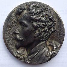 Ludwig II König von Bayern Plakette Profilbildnis Eisenkunstgus Andrassy Hungarn